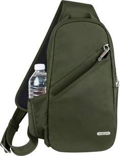 Travelon Anti-Theft Classic Sling Bag Olive - via eBags.com!