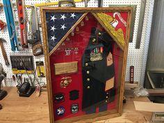 18 x 24 Military Shadow box Military Retirement, Military Careers, Retirement Ideas, Retirement Gifts, Retirement Parties, Military Life, Shadow Box Table, Magnificent 7, Beautiful