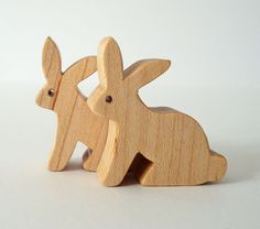 Waldorf Toys Wood Rabbit Pair  $8.00, via Etsy.  easter?