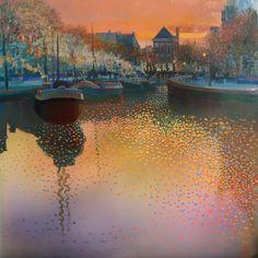 Afvaart. Ton Dubbeldam. Dutch painter.