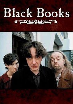 Black Books -  TV series from 2000-2004 ~ Bill Bailey as Manny Bianco, Tamsin Greig as Fran Katzenjammer, Dylan Moran as Bernard Black.