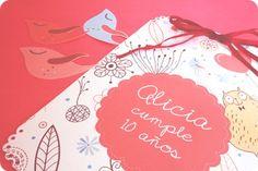 delicadas invitaciones muy originales para fiestas de cumpleaños Delicada invitación muy original para fiesta de cumpleaños