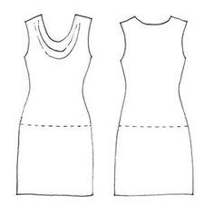 Easy free cowl dress/top pattern
