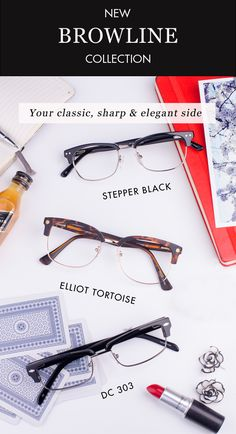 New Browline Eyeglasses Frames Collection by GlassesUSA. Always In Style. Glasses Include Rx. Lenses! http://www.glassesusa.com/browline?affid=pin-lp218&utm_source=pinterest.com&utm_medium=pint_sponsored&utm_campaign=browline