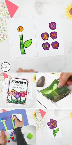 Help preschoolers learn about real flowers with this full week of printable preschool flower theme lesson plans full of playful reading, math, and science activities. Montessori Activities, Science Activities, Preschool Activities, Spring Activities, Math Games, Preschool Lesson Plans, Preschool Classroom, Preschool Learning, Classroom Ideas