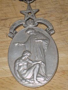 Vice+Patron+Sterling+Silver+Masons+Masonic+Hospital+Medal+++39g+