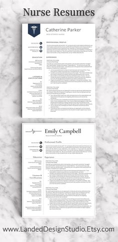 Nurse resume templates - makes me want to hurry up and finish nursing school and become a future nurse! Includes nurse resume tips and a resume writing guide. New Grad Nursing Resume, Nursing Resume Examples, Bsn Nursing, Nursing Resume Template, College Nursing, Nursing School Tips, Nursing Career, Nursing Graduation, Nursing Tips