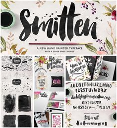 Description: Introducing hand-inked Smitten typeface. Perfect for creating organic, fluid typography on products, branding, invitations, fliers, posters and other designs. For personal use. Free for download. File format: .otf, .ttf, .eps, .ai for Photoshop or other vector software. File size: 32 Mb.