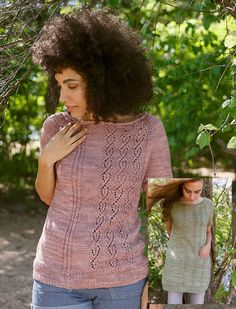 Пуловер и туника реглан Olivette из журнала Pom Pom выпуск 17 Лето. Дизайнер Thea Colman.