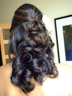 wedding hair half updo