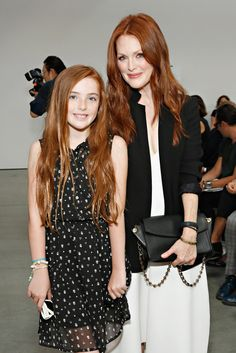 Julianne Moore and her daughter.