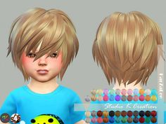 Studio K Creation: Animate hairstyle 27-RIN for toddlers • Sims 4 Downloads