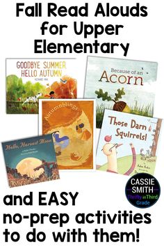 Get read aloud ideas for third, fourth, and fifth grade students. These books are the perfect way to incorporate autumn in your classroom! This post also includes no-prep activity suggestions that you can use with each story! Get Reading, Guided Reading, Fifth Grade, Third Grade, Upper Elementary, Elementary Schools, Guided Math, Hello Autumn, Activities To Do