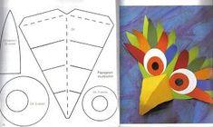 Naamari -- Paper masks are the best masks! Carnival Crafts, Carnival Masks, Diy For Kids, Crafts For Kids, Arts And Crafts, Key Crafts, Paper Art, Paper Crafts, Bird Masks