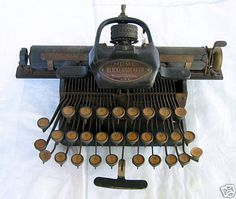 the Blickensderfer. This is a late 19th century portable typewriter.