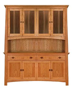 """This is what I want!!! Large Cherry Moon China Cabinet - Sideboard 63"""" Wide 