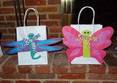 Another idea for easter egg hunt bags for my nieces nephews easter egg hunt bags butterfly dragonfly theme negle Choice Image