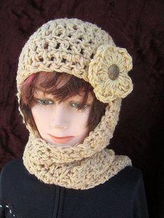 113, CROCHET PATTERN Hat scarf...hat scarf combo, Hood, hoodie, scoodie, women, ladies, teens, accessories, clothing,adult, preteen. $4.99, via Etsy.