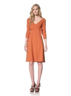 70% OFF Susana Monaco Women\'s Wrap Dress (Squash)