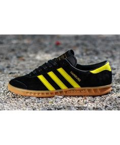 best sneakers a0ca8 e924a Adidas Hamburg Black Yellow Trainers Sale