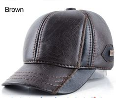 07441849164 Winter Leather Dad Hat. Leather HatsLeather MenCasquette BaseballDad ...
