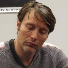 Mads Mikkelsen. I think of the extremely few to consider gorgeous