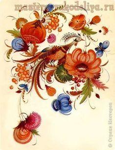 Роспись по дереву: Секреты петриковской росписи. Часть 6 - Фауна