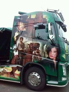 VOLVO Custom Big Rigs, Custom Trucks, Show Trucks, Big Trucks, Transportation Logo, Brush Truck, Mercedes Truck, Truck Paint, Road Train