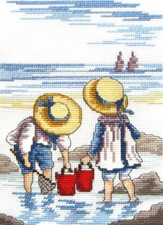 """All our Yesterdays, Faye Whittaker """"Rocking Pool"""" Kreuzstichpackung / cross stitch  kit"""