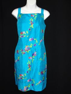 PRICE 17.99 . Emily Spencer 100% SILK Lined Blue Floral Purple Pink Green Sleeveless Dress 12P #EmilySpencer #Sundress #Casual ..... We are TOP RATED * POWER Sellers on EBAY * Selling WORLDWIDE. Visit us at our EBAY STORE * 4COOLSTUFF2BUY with any questions or items for sale.C040