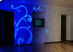 Invisible UV light paint for walls http://acmelight.eu/