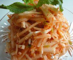 Korean Radish salad / 무생채 / Musaengchae (or muwoo saengchae, mu saengchae,)