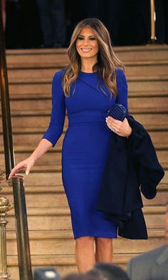 The first lady-elect looked effortlessly stylish in a simple blue dress after a March 2016 debate sponsored by Fox News in Detroit.
