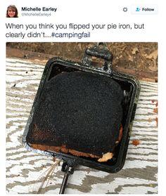 This sad campfire bread.
