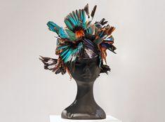 katsuya kamo exhibits 100 head pieces made for junya watanabe's 2010 runway show