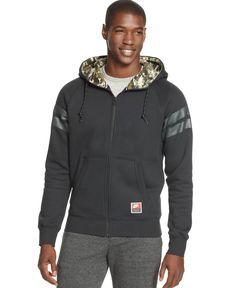 Nike Nsw Full-Zip Printed-Hood Hoodie