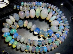 FIERY ETHIOPIAN-WELO OPAL BEADS DRILLED 84 CTS (FOB)