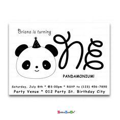 A personal favorite from my Etsy shop https://www.etsy.com/listing/600858873/panda-birthday-invitation-personalized