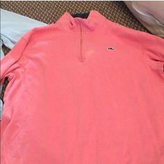 Pink Vinyard vines pullover barely worn Vinyard vines pull over Vineyard Vines Tops