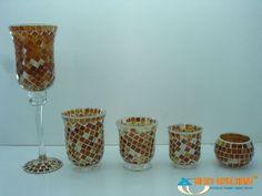 mosaic Planter Pots, Mosaic, Candle Holders, Candles, Mosaics, Porta Velas, Candy, Candle Sticks, Mosaic Art