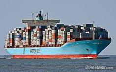 Giant Container Vessel Full Up With Containers