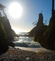 Early evening sunset at Langara Island, Haida Gwaii Beautiful Places To Visit, Oh The Places You'll Go, Great Places, Places To Travel, Haida Gwaii, Evening Sunset, Scenic Photography, Canada Travel, Beautiful Sunset