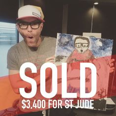 Thank you all for bidding on my paintings. Or just clicking it and learning more about Bobby Bones always helping and giving! Bobby Bones, Bones Show, Dj, Paintings, Photo And Video, Learning, Country, Instagram, Paint
