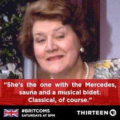 Keeping Up Appearances - The Memoirs of Hyacinth Bucket British Sitcoms, British Comedy, English Comedy, Color Television, Keeping Up Appearances, 70s Tv Shows, British Humor, Classic Comedies, Bbc Tv