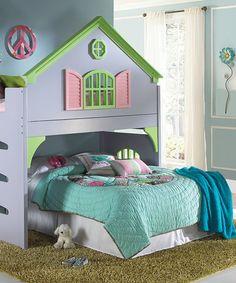 Love this Doll House Loft Bed on #zulily! #zulilyfinds