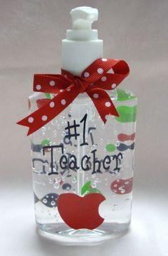 Vinyl Monogram Gifts | Hand Sanitizer Teacher's Gift - The Pink Polka Dot