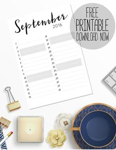 Here's your free printable September 2016 planner sheet. It's perfect for planning out your month, with loads of space for your family's appointments, reminders and birthdays. Want to get organised? Download this free printable weekly planner right now. Perfect for any girlboss, ladyboss or momboss that needs some organisation and inspiration in their lives. Click to download!