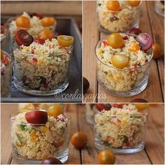 Tabulé o ensalada de cuscus {by Paula, Con las Zarpas en la Masa} Quick Recipes, Cooking Recipes, Healthy Recipes, Couscous, Catering, Mediterranean Recipes, Soul Food, Tapas, Yummy Food