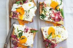 This relaxed breakfast of eggs and Turkish bread offers plenty of excuse to eat in this weekend.