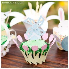 Spring Cupcake Wrappers SVG Kit - FOR SOME REASON THESE PINS ARE NOT LINKING CORRECTLY...YOU MAY HAVE TO USE THE SVG CUTS SEARCH BOX TO SEARCH FOR THE ITEM